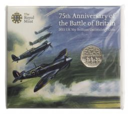 2015 50p Battle Of Britian Uncirculated Coin Pack for sale